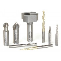 ABS108 - Axiom 8pc CNC Bit Set by Amana Tool