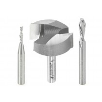 ABS201 - Axiom 3pc CNC Starter Bit Set for i2R 1/4 shank by Amana Tool